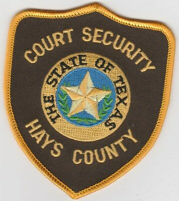 vintage Hays County, Texas Court Security patch  TX