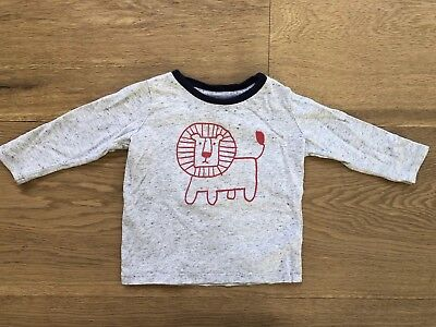 Seed Baby Boys Cotton Lion Long Sleeve T-Shirt Size 6-12 Months