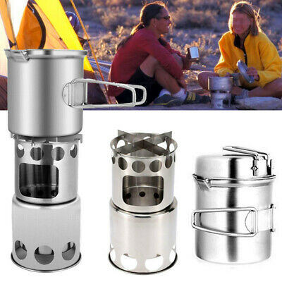 Camping Stove Cooking Camp Wood Heater Portable Stainless Steel For Picnic Tools