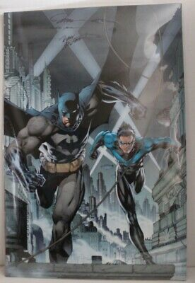 Dc Comics 2003 Batman # 615 Poster Signed Jim Lee & Marv Wolfman Nightwing Oop