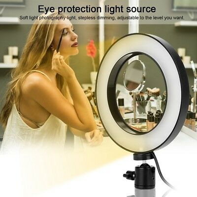 Portable USB Selfie LED Camera Ring Flash Fill Light For IPhone Mobile Phone AL