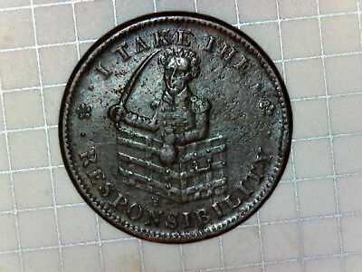 1833 The Constitution as I Understand It Hard Times Token