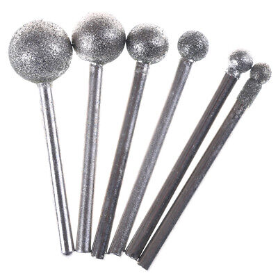 6pcs Round Diamond Grinding Wheel 3mm Round Shank for Rotary Tool IN