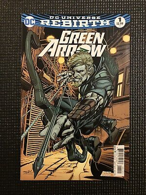 Green Arrow Rebirth DC Universe #1 NM Neal Adams Variant Cover B August 2016