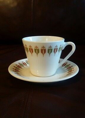 Vintage Flat Cup & Saucer Set in Captain's Table by Syracuse China Syralite