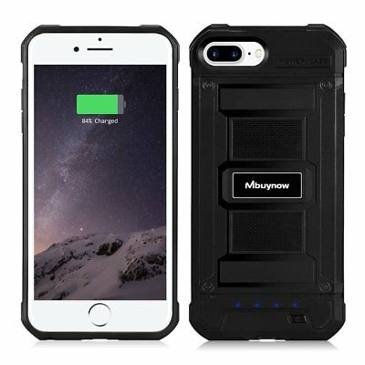 Battery Case, Shockproof Rechargeable Portable Backup Power Case iPhone 5.5 inch