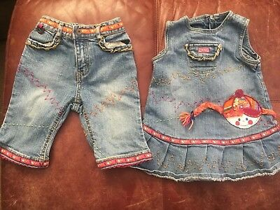 Lot Of Girls 24/18 Months THE CHILDRENS PLACE Capri Jeans Pants/dress