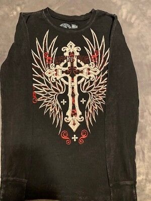 AFFLICTION Womens Long Sleeve Thermal - Thermo - LIVE FAST -