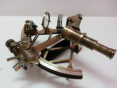 Nautical Sextant 9'' Marine Working Heavy Brass Navigation Ship Instrument item.