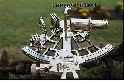 Handmade Brass Nautical Vintage Sextant Maritime Astrolabe Ship Instrument Item.