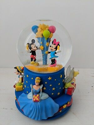 "Disney Walt's 100th - Mickey and Minnie ""Wish upon a Star"" Musical Snowglobe"