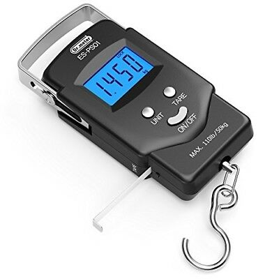 Electronic Balance Digital Fishing Postal Hanging Hook Scale with Measuring Ta