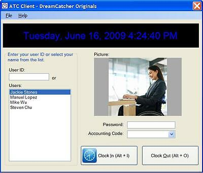 Employee Time Clock Software and Reporting System For Microsoft Window PC