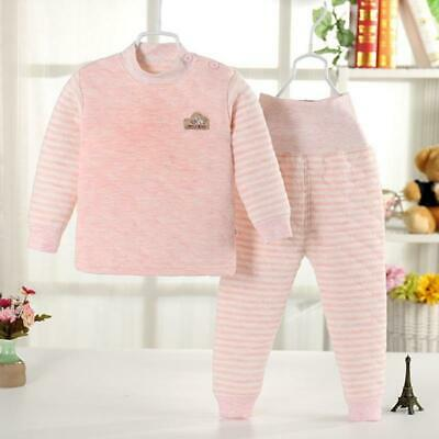 Infant Cotton Long Thermal Underwear Set Boys Girls Base Layer High Waist Thick