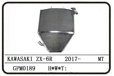 Large Performance Racing Radiator For Kawasaki Zx6R Zx-6R 2017~ Extended Ver.