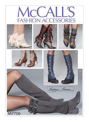 M7706 McCall's Sewing Pattern Misses' Steampunk Lolita Spats Go-Go Boot Covers