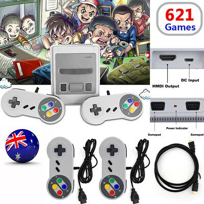 621 Games in 1 Classic Mini NES Game Console Retro TV HDMI + 2 Controler Gamepad