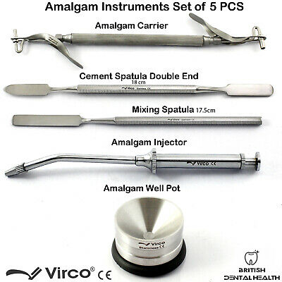 Restorative Amalgam Carrier Gun Cement Mixing Spatula Amalgam Well Pot Dental CE