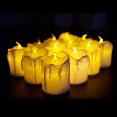 2 Pcs Led Electronic Candle Lightfor Halloween Christmas Or Wedding with Battery