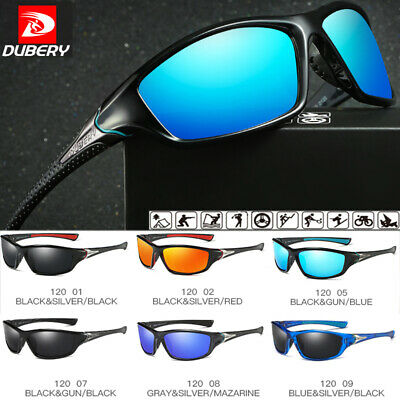 DUBERY Polarized Sunglasses Day & Night Vision Driving Sports Glasses UV400