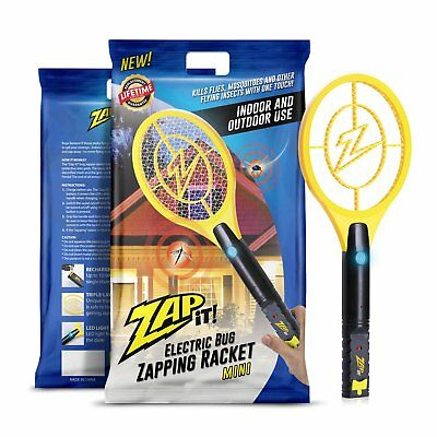 Zap It Bug Zapper Racket 4000V USB Rechargeable