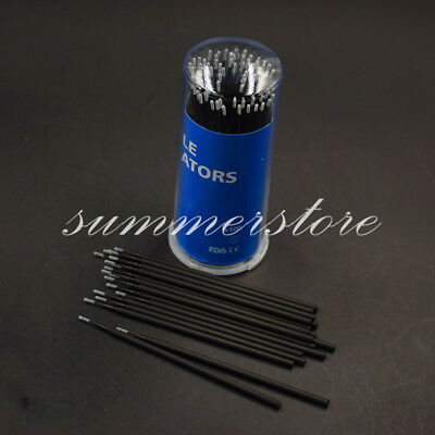 1.2 mm Black 100 Pcs Dental Micro Brush Tooth Applicator Disposable Materials