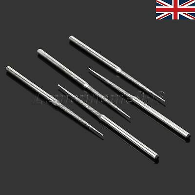 Durable 5pcs Diamond Coated Grinding Head Burrs Polishing Drill Bits Sharpening