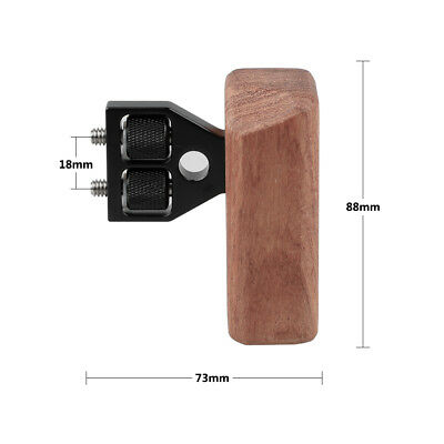 CAMVATE DSLR Wood Wooden Handle fr right Grip Mount for DV Video Camera Cage Rig