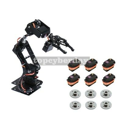 6DOF Mechnical Arm Robot + 6PCS MG996R Analog Servo + Servo Wheel, Unassembled