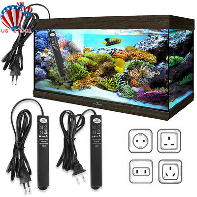 Submersible Water Heater Heating Rod For Aquarium Fish Tank 15/25W Adjustable US