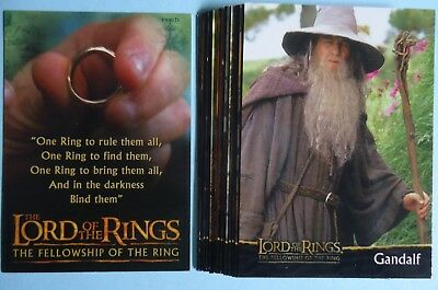 2001 Topps Lord of the Rings 'The Fellowship of the Ring' Preview Set - 16 Cards