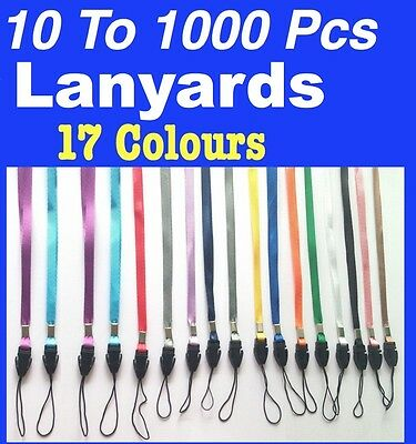 New 10 to 1000 Lanyards Neck Strap for ID Card Badge Mobile Phone USB Flash