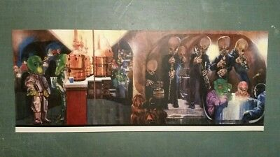 Vintage Star Wars Creature Cantina Playset Cardboard Background Image REPRO