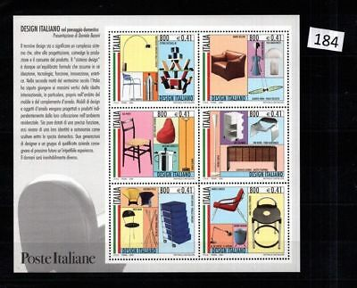 !! Italy 2000 - Mnh - Design - Furniture