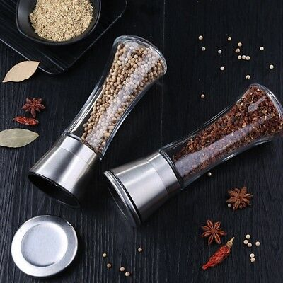 Stainless steel manual salt and pepper mill Herb&Spice Grinder hand shaker set