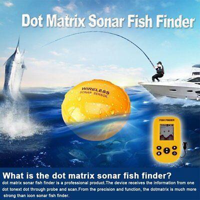 Wireless Fish Finder Sonar Probe Detector with Dot Matrix 100M Rechargeable YT