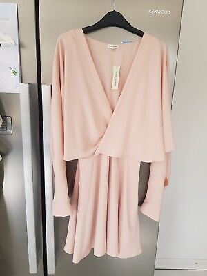57709d8f0fb64 river island dress pink baby batwing wrap summer love island mini decadence