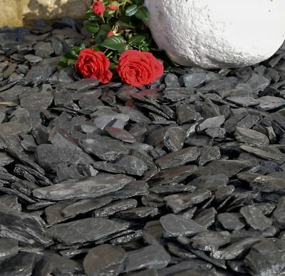 Graphite Grey/ Charcoal Slate Chippings 40M Landscaping Gravel Stone Aggregates