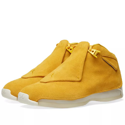 480c43a385dd NIKE AIR JORDAN 18 Retro Suede Yellow Ochre Sail AA2494-701 Men s ...