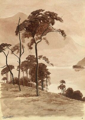 H. Ratcliffe, Treescape at Thirlmere - Early 20th-century watercolour painting