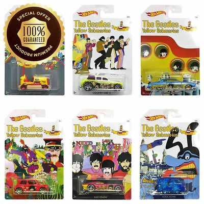 Hot Wheels The Beatles Yellow Submarine Limited Ed Set of 6 Diecast NEW SEALED