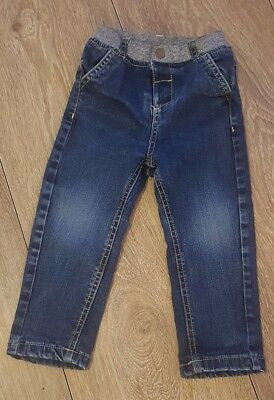 M&s Baby Boys Navy Jeans Age 18-24 Months