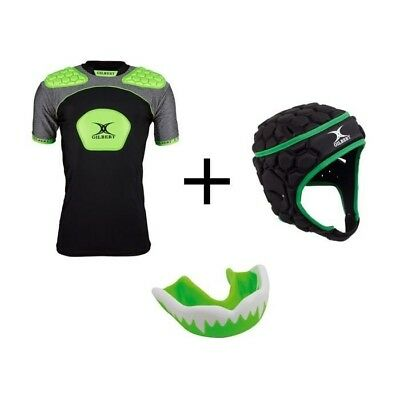GILBERT Pack protection rugby enfant 12 - 14 ans - Casque … BUNGRAYS03 617077124a04