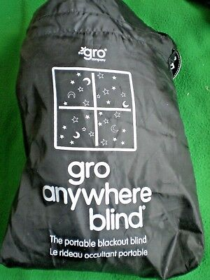 Gro Company Gro Anywhere Blackout Blind with carry bag. approx 200 cm wide x 130