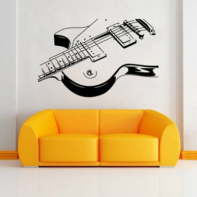 Removable PVC Music Instrument Guitar Wall Sticker Home Decoration Mural ED