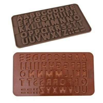 Letter Soap Ice Cube Chocolate Candy Soap Silicone Mold Cake Decoration ED