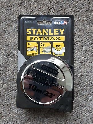 Stanley Fatmax 10M 33' Tape Measure 4 Metre Stand Out 5 33 896 8