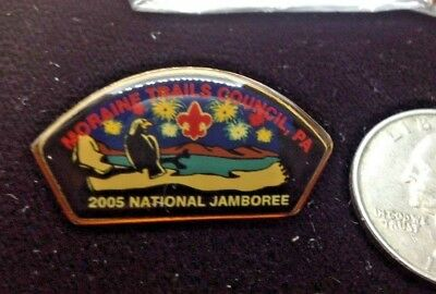 Boy Scouts of America 2005 National Scout Jamboree Pin  4 pins Moraine Trails PA
