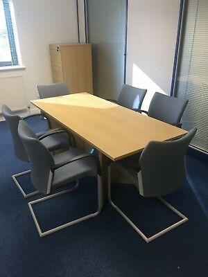 Boardroom Table and 6 Chairs