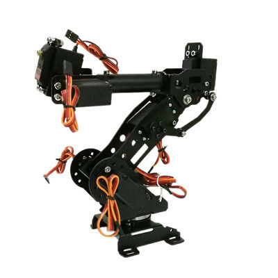 1 Set 8 DOF Aluminium Mechanical Robotic Arm Clamp Claw Mount Robot Kit